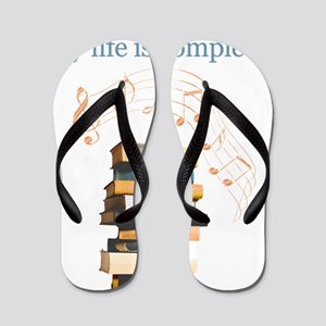 Books and music Flip Flops