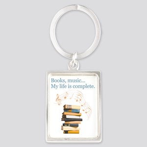 Books and music Portrait Keychain