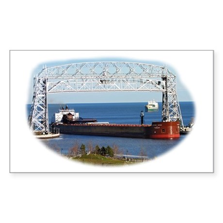 Mesabi Miner under Duluth Aeri Sticker (Rectangle)