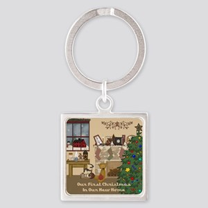 ornament Square Keychain