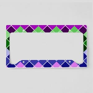 multicolor argyle  License Plate Holder