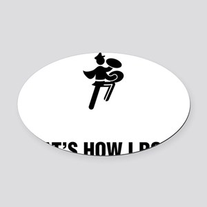 Marching-Band---Bass-Cymbal-ABG1 Oval Car Magnet