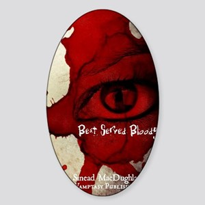 Best Served Bloody Cover Sticker (Oval)