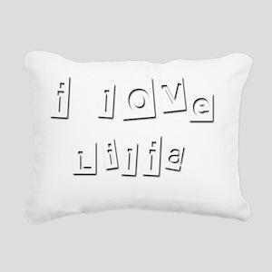 I Love Lilia Rectangular Canvas Pillow