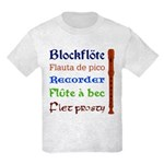 Multilingual Recorder Kids Light T-Shirt