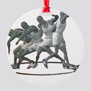 Sports Science Logo B  W Round Ornament