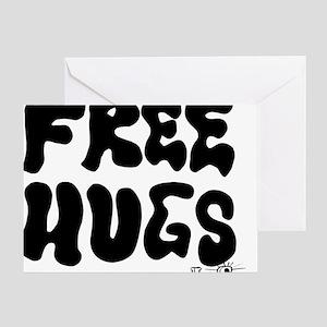 Free Hugs logo Greeting Card