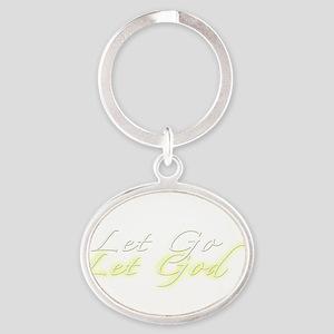 Let Go Let God Transparent Oval Keychain