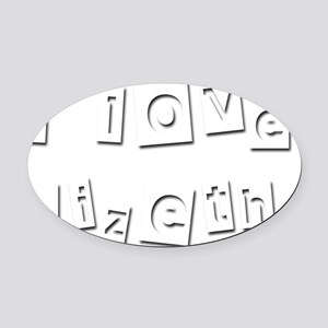 I Love Lizeth Oval Car Magnet