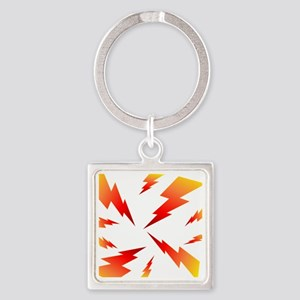 FSW lightning bolt BACK Square Keychain