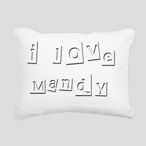 I Love Mandy Rectangular Canvas Pillow