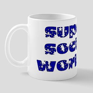 key holder blue Mug