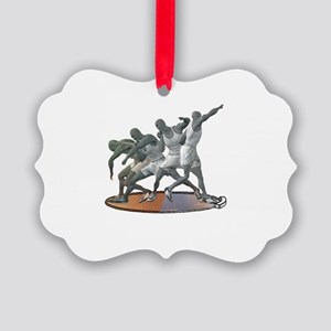 Sports Science Logo White text Picture Ornament