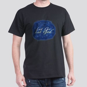 Let Go and Let God w/ Stars Dark T-Shirt