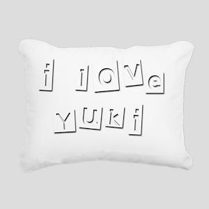 I Love Yuki Rectangular Canvas Pillow