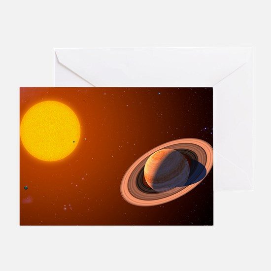 Iota Draconis planet Greeting Card