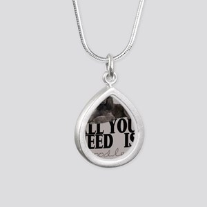 po_kids_all_over_828_H_F Silver Teardrop Necklace