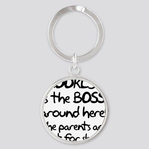 Brooklyn is the Boss Round Keychain