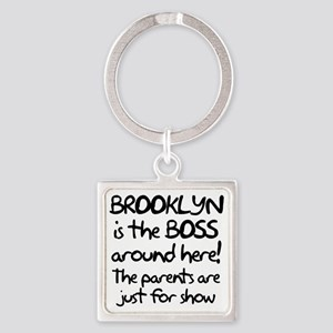 Brooklyn is the Boss Square Keychain
