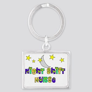 Night Shift Nurse 3 Landscape Keychain