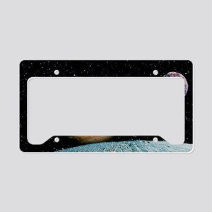 Jupiter and the Galilean moon License Plate Holder