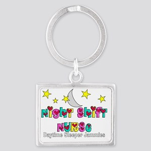 Night Shift Nurse Landscape Keychain