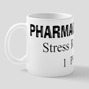 pharmacy tech stress reliev black Mug