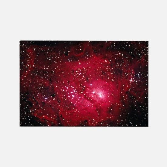 Lagoon nebula M8 Rectangle Magnet