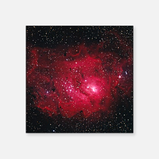 "Lagoon nebula M8 Square Sticker 3"" x 3"""