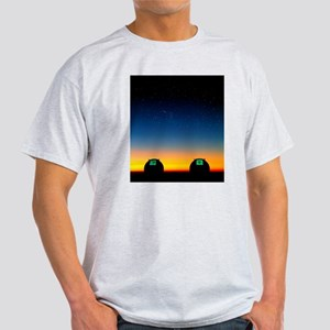 Keck I and II telescopes on Mauna Ke Light T-Shirt