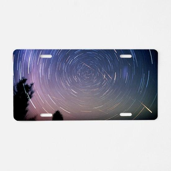 Leonid meteors Aluminum License Plate