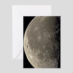 Last quarter Moon Greeting Card