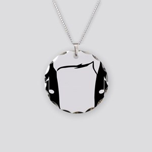 Hearing Protection Black Necklace Circle Charm