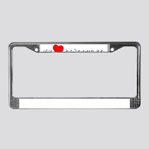 My Heart Belongs To Lala License Plate Frame