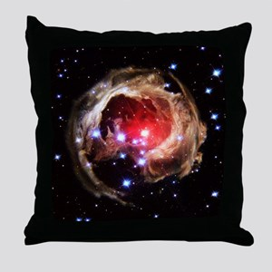 Light echoes from exploding star Throw Pillow