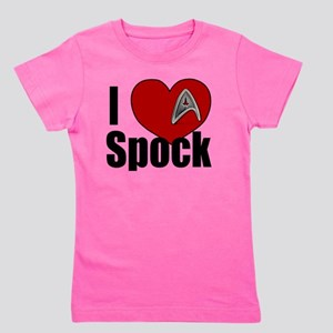 I Love Spock Girl's Tee