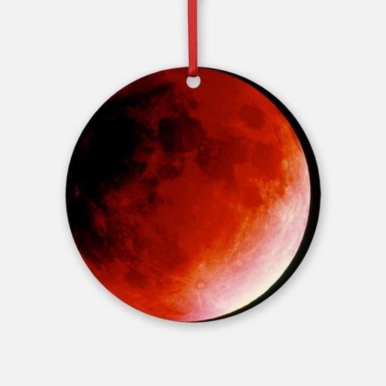 Lunar eclipse Round Ornament