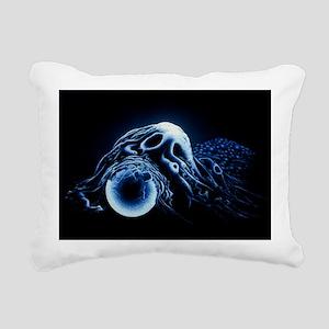 Macrophage engulfing bea Rectangular Canvas Pillow