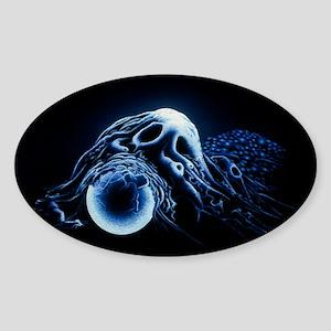 Macrophage engulfing bead Sticker (Oval)