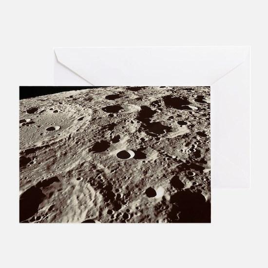 Lunar surface Greeting Card