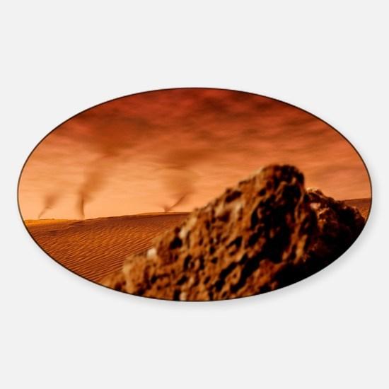 Martian dust devils Sticker (Oval)