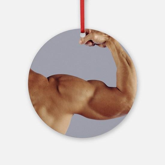 Man's arm Round Ornament