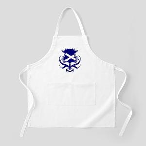 Scottish navy blue thistle Apron