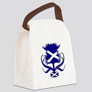 Scottish navy blue thistle Canvas Lunch Bag
