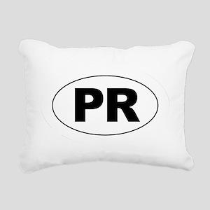 Puerto Rico - PR Rectangular Canvas Pillow