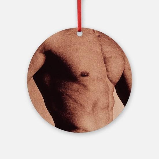 Man's torso Round Ornament