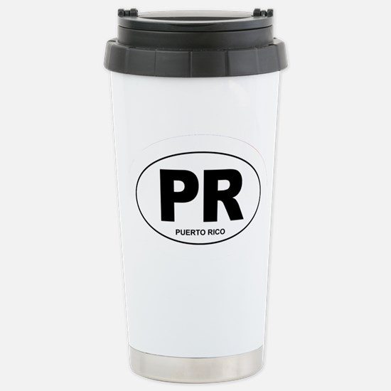 Puerto Rico - PR Stainless Steel Travel Mug