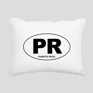 Puerto Rico - PR Rectangular Canvas Pillow