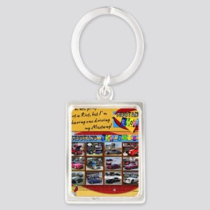 2013 RIOT Mustang pillow Portrait Keychain