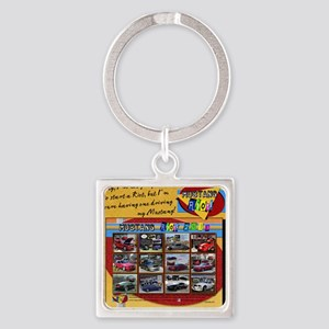 2013 RIOT Mustang pillow Square Keychain